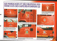 Marquages Décorations Véhicules Fourgon Camions France FICHE Pompier FIREFIGHTER