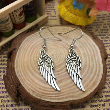 Free shipping Antique Silver Jewelry Angel wings earring*