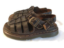 Dr. Doc Martens Womens Vintage Platform Brown Leather Buckle Sandals Size 6