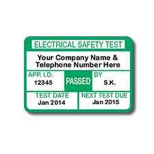 520 Fully Personalised PAT Test Labels For Plugs