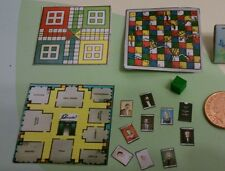 Doll House Miniature Games job lot of 3 , cluedo, Ludo and snakes and ladders