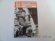 CARTE FICHE CINEMA 1940 LA JEUNESSE DE TOM EDISSON Mickey Rooney Fay Bainter