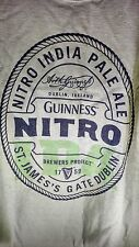 RARE Guinness Nitro India Pale Ale Tshirt EUC IPA Large Irish Ireland Beer Green