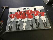 "Manchester United MUFC Iconic Number 7's Canvas Print (26""x18"")"