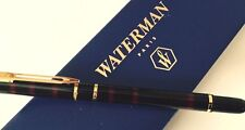 WATERMAN LAUREAT  RED MARBLE FOUNTAIN PEN FINE PT  NEW IN BOX  THE ORIGINAL 1