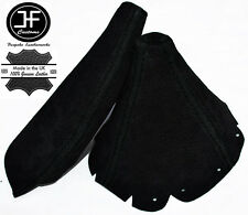 BLACK STITCHING FITS MAZDA MIATA MX-5  MK1 90-97 BLACK SUEDE SHIFT BOOT&E BRAKE