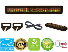 """LED SIGN 26""""x4"""" REMOTE PROGRAMMABLE TRI COLOR SCROLLING MESSAGE BOARD"""