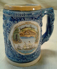 Jamestown, Virgina Pocahontus Church Fort Stein Mug Cup Tankard Souvenir  VTG
