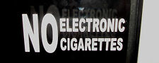 (set of 2) NO ELECTRONIC CIGARETTES TAXI WINDOW STICKERS
