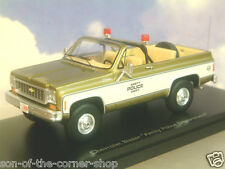 SCHUCO PRO.R43 1/43 CHEVROLET CHEVY BLAZER PICKUP AMITY POLICE DEPT. FROM JAWS