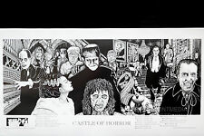 CASTLE OF HORROR MOVIES - HOWARD TEMAN POSTER (48x90cm)  NEW LICENSED ART