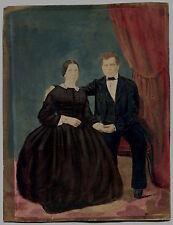 Photo Rehaussée - Papier Salé - 1850's -