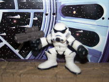 STAR WARS STORMTROOPER 2001 HASBRO GALACTIC HEROES FIGURE BLACK LINES ON HELMET