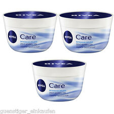 3x 50ml Nivea Care Intensive Cura Crema Viso & Corpo 3