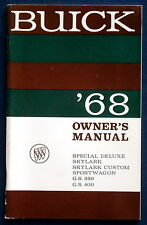 Owner's Manual * Betriebsanleitung 1968 Buick Special * Skylark * G.S.350 (USA)