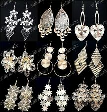Promotions 20pairs Mix Gold Silver P Fashion Women Drop Earrings Wholesale Lots
