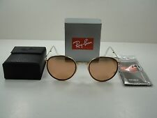 RAY-BAN ROUND FOLDING SUNGLASSES RB3517 001/Z2 GOLD FRAME/COPPER FLASH LENS 48MM