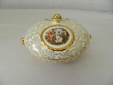 Vintage Empire Ware England Shelton Porcelain Gold Trimmed Dish w/ Lid #3