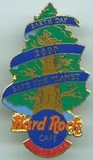 Hard Rock Cafe SINGAPORE 2000 EARTH DAY PIN Evergreen Tree HRC Logo Catalog 8809