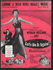 Gimme A Man Who Makes Music 1953 Let's Do It Again Jane Wyman Ray Milland