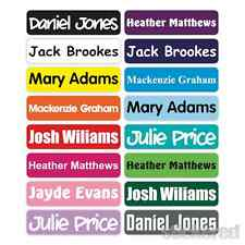 50 x 46MM PERSONALISED STICK ON NAME LABELS WATERPROOF LUNCH BOX SCHOOL SHOES