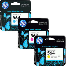 3 Pk Genuine 2016 HP 564 Color Ink Cartridges In RETAIL BOX 7510 6525 6520 6515