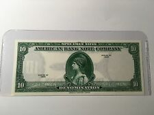 TEST NOTE $10.00 USA Specimen 1929 American Bank Note