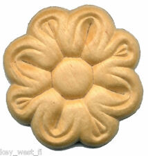 "Birch Applique ~ Flower Medallion ~ REAL WOOD  { 1-5/16"" Dia. } ~ by  PLD"