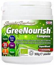 GreeNourish Complete 100% Organic Meal Replacement Superfood Protein Powder Diet