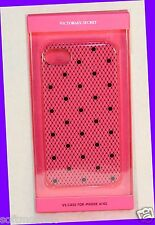 Victorias Secret HOT PINK BLACK Lace Polka Dot iPhone 4/4s Fitted Case Glossy
