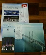 Special Second Penang Bridge autographed Malaysia 2015 empty folder Free Poster