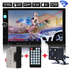 "7"" Double 2Din In Dash Car Stereo MP3 Player Touch Bluetooth Radio FM Aux+Camera"