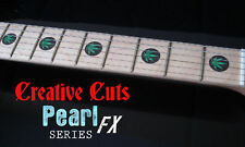 Cannabis BLACK PEARL & GREEN PEARL Fret Markers Inlay Stickers for ANY GUITAR