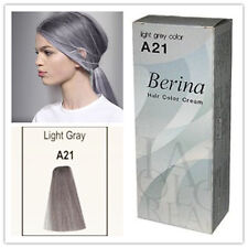 2xBERINA HAIR COLOR A21 LIGHT GREY PERMANENT HAIR DRY COLOR CREAM FASHION UNISEX
