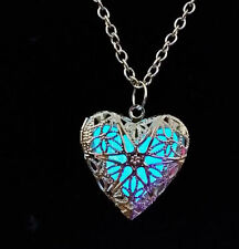 New Heart Fairy Glow In The Dark Locket Pendant Pretty Necklace Magic fu