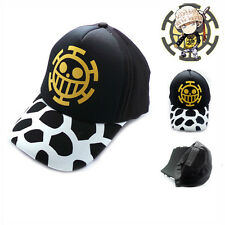 Anime One Piece Trafalgar Law Cotton Baseball Cap Sun Hat Cosplay New Fashion