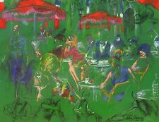 "LEROY NEIMAN BOOK PRINT ""LE COLISEE"" CHAMPS-ELYSEES PARIS CAFE SCENE FRANCE"