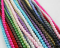 Wholesale Lots Glass Pearl Round Spacer Loose Beads 4mm/6mm/8mm Free 13Color NEW