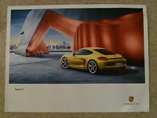 2012 Porsche Cayman S Showroom Advertising Sales Poster RARE!! Awesome L@@K