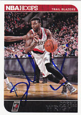 DORELL WRIGHT PORTLAND TRAIL BLAZERS SIGNED HOOPS CARD MIAMI HEAT WARRIORS 76ERS