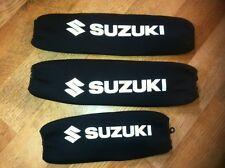 SUZUKI LTR 450 LTR450  SHOCK COVERS (Set of 3) NEOPRENE ATV QUADS BLACK ZIPPERS