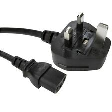 3m de largo IEC hervidor plomo cable de alimentación de 3 pines Uk Plug Monitor De Pc C13 Cable