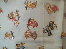 Vintage Animals Playing w Kids Toys Print Material Childs Design Fabric MT117