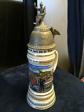 Vintage Replica German Germany WW1 Regimental Military Eagle Beer Lidded Stein