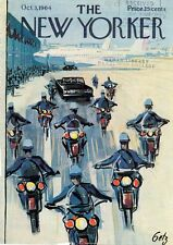 1964 GETZ ART COVER ONLY -Police Escort for Presidential Car From Airport