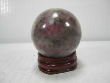 "WHOLESALE VERY RARE 1.62"" D. RUBY IN  QUARTZ SPHERE INDIA #17 - BEST PRICE!"