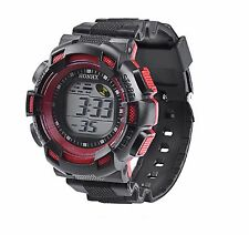Big Dial Kids Boys Wristwatch Multi-function Alarm Timer Digital Wrist Watch Red