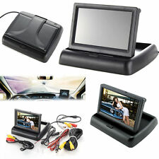 "4.3"" Foldable TFT LCD Monitor + Car Rear View  Backup Auto Reverse Camera"