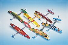 "12 New Assorted 8"" Foam WWII Airplane Gliders Party Favors #5/9"