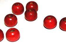 1000 10mm RED WOODEN BEADS - CRAFT WOOD BEADS JEWELLERY MAKING